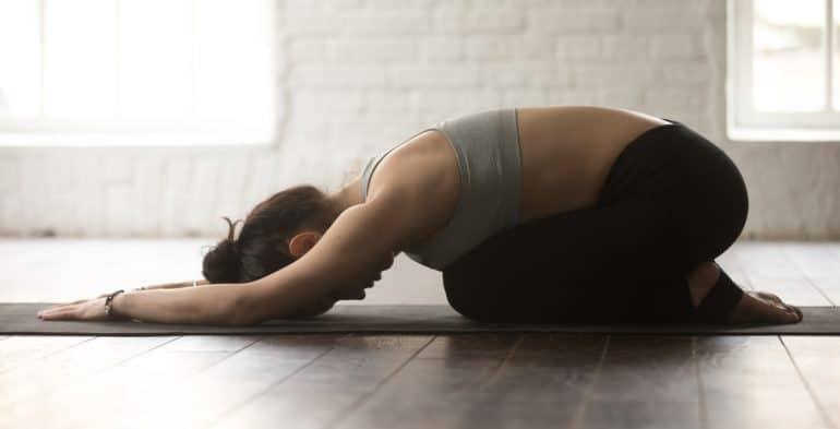 Child S Pose A Yoga Stretch Baby Arabia