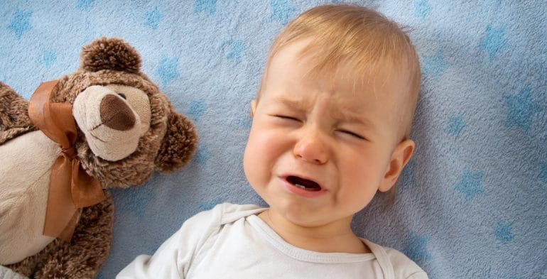 baby suffering reflux