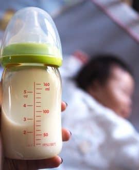 breast milk in bottle