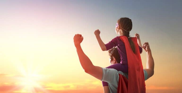 Dads are heroes