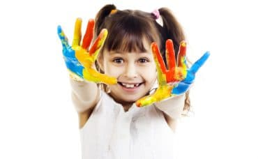 painted hands kids fun