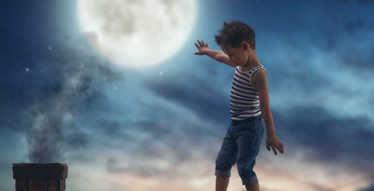 sleepwalking child on roof